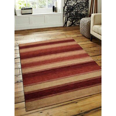Bloomsbury Market Seidman Hand Knotted Wool Gold Red Area Rug Rug Size Rectangle 8 X 10 Wool Area Rugs Area Rugs Contemporary Area Rugs