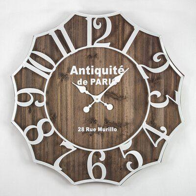 Ophelia Co Oversized Hines Wall Clock Extra Large Wall Clock Clock Wall Clock Online