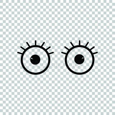 Open Cartoon Eyes Sign Black Icon On Transparent Background Il Stock Sponsored Sign Black Eyes Open Cartoon Eyes Cartoon Transparent Background