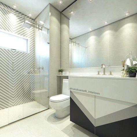 Baños, Azulejo Decorativo, Espejo Grande, Iluminación, Muebles De Baño