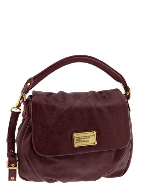 MARC BY MARC JACOBS  Classic Q - Little Ukita  Shoulder Bag in Dark Purple 1945bc6b073d