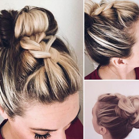 Tangled Thursday-French Braid Half up Bun My easy go to hair for the gym, beach or running errands. Link in bio Tangled Thursday-French Braid Half up Bun My easy go to hair for the gym, beach or running errands. Link in bio
