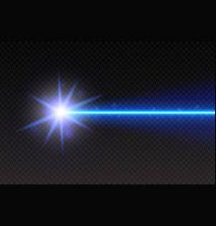 Abstract Blue Laser Beam Magic Neon Light Lines Vector Sparkles Background Light Magic Rainbow Light