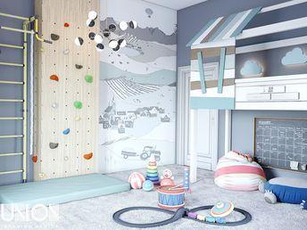 дизайн детской комнаты для мальчика 5 лет 17м2 игровая комната