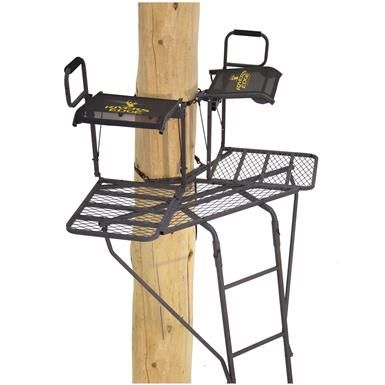 Rivers Edge 2 Man Bowman Ladder Tree Stand Ladder Stands Best Ladder Ladder Tree Stands