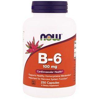 Now Foods B 6 100 Mg 250 Veg Capsules Now Foods Dietary Cardiovascular Health