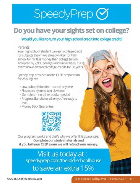 021beb97651 Speedy Prep  Do you have your sights set on college --The Old Schoolhouse  Magazine - Summer 2017 - Page 147