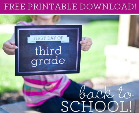 #FREE First Day of School Printable Picture