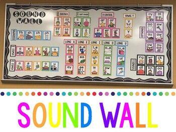 Sound Wall by First Grade Freckles | Teachers Pay Teachers