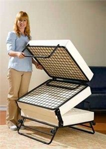 Fold Out Ottoman Guest Bed With Images Pull Out Bed Ottoman