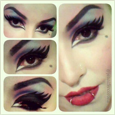 Elvira makeup by Jennifer Corona