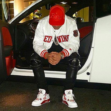 DJ Envy wearing the 'Alternate Air Jordan 4 Source by jaogasy