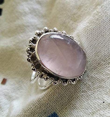 Best Seller Ring Gift for her Gift For Him Rose Quartz Ring Personalized Gift 925 Sterling Silver Plated Rose Quartz Designer Ring