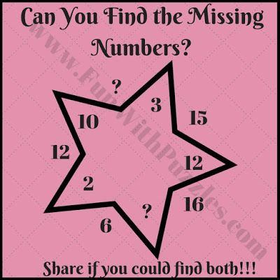 Interesting Fun Star Math Puzzle Brain Teasers For Kids Brain Teasers Brain Teasers For Kids Maths Puzzles