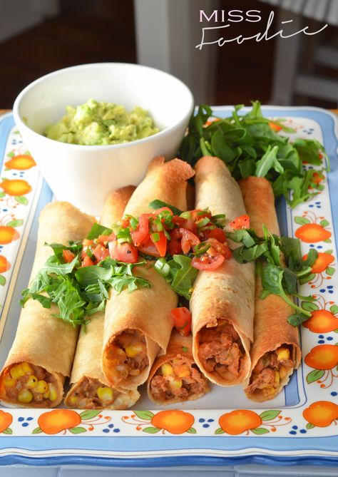 Sweet corn and green chile baked flautas - Thug Kitchen - Vegetarian -  Miss Foodie