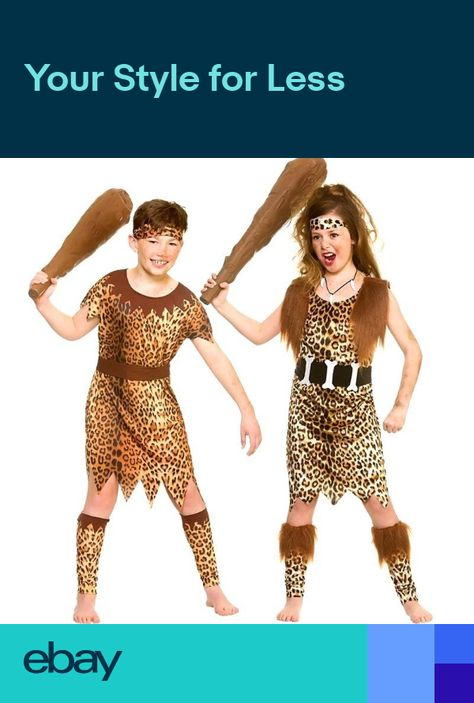 CAVE BOY Larger Child Sizes-Fancy Dress World Book Day-Unisex