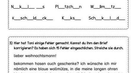 übungsblatt Zu Nomen Vokalen Satzanfänge Konsonanten Grammatik