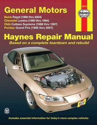 Advertisement Ebay Repair Manual Haynes 38010 Chevrolet Lumina Buick Regal Pontiac Grand Prix