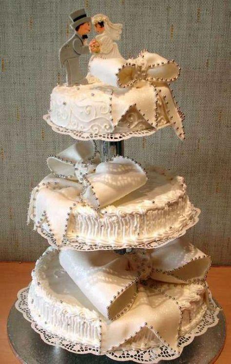 Unique Wedding Cake #wedding cake