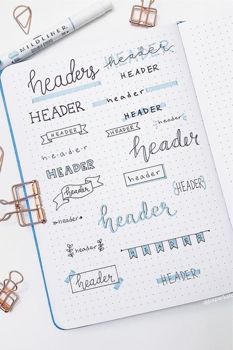 15+ Best April Bullet Journal Header Ideas For 2020 - Crazy Laura