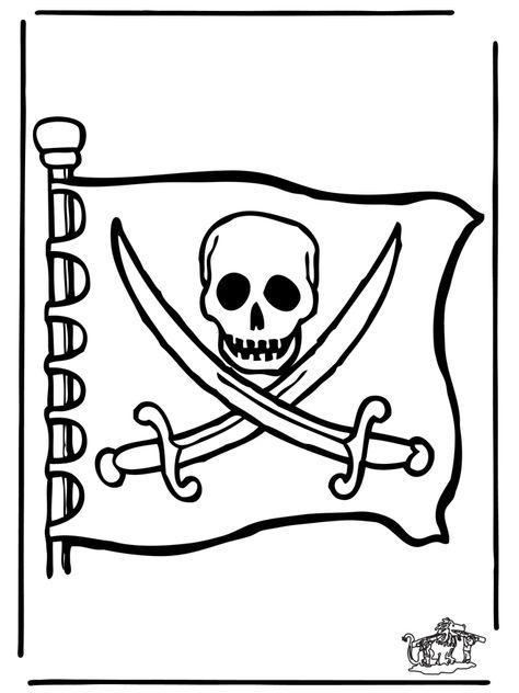 Piraten Flagge Ausmalbilder Ubriges Piraten Piraten Kindergarten Piratenkarten