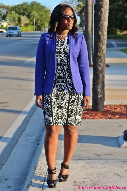Curves and Confidence   Inspiring Curvy Fashionistas One Outfit At A Time: Pretty Printed Sheath Dress