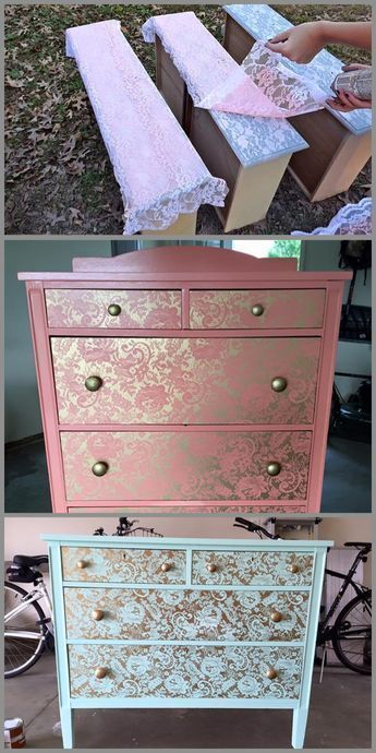 Shabbychic sweethome house country interiordesign 50 best diy rustic farmhouse decor ideas for your home Refurbished Furniture, Repurposed Furniture, Home Decor Furniture, Furniture Projects, Furniture Makeover, Diy Home Decor, Decopage Furniture, Silver Furniture, Lace Painted Furniture