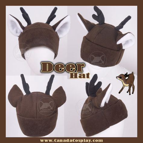 Little Brown Deer Hat by KayPikeFashion on DeviantArt Hat Patterns To Sew, Doll Clothes Patterns, Sewing Patterns, Cosplay Horns, Wolf Hat, Geek Jewelry, Bullet Jewelry, Metal Jewelry, Jewelry Necklaces