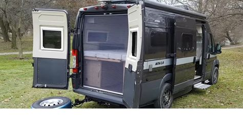 Groovy Hymer Activ 2 0 Rear View With Insect Screen Down Squirreltailoven Fun Painted Chair Ideas Images Squirreltailovenorg