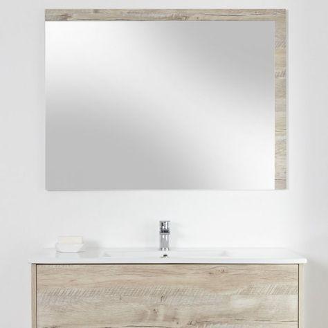 Specchio Bagno Mobile.Specchio Bagno Murale 750x1000mm Colore Rovere Chiaro Con Design