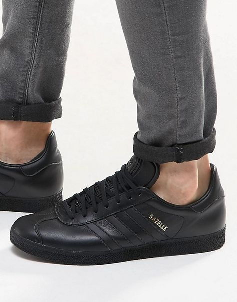 huge discount f47a9 1dab6 adidas Originals Gazelle Sneakers In Black BB5497
