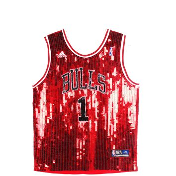 new product 7414e 7c0cf chicago bulls sequin jersey