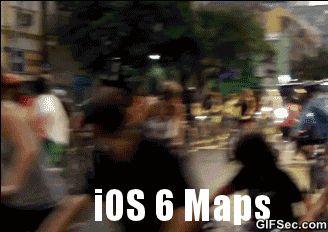 GIF: Apple iPhone Maps - www.gifsec.com