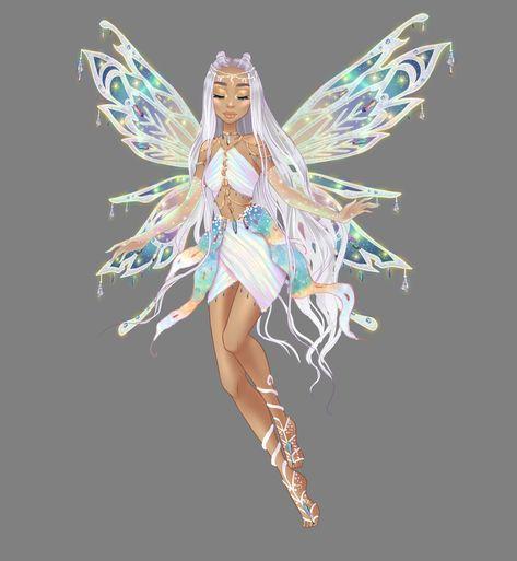 Hanna Enchantix V. (I lost count) by AstralBlu on DeviantArt Cartoon Girl Drawing, Girl Cartoon, Cartoon Art, Cartoon Characters, Fantasy Creatures, Mythical Creatures, Art Mignon, Fairy Art, Winx Club