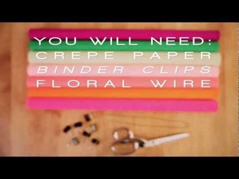 """A gorgeous video from Honestly WTF. Popping beautiful crepe paper flowers - """"Daniel Style"""" - Honestly WTF learned them from us! http://youtu.be/SYPbm3kcnbA"""