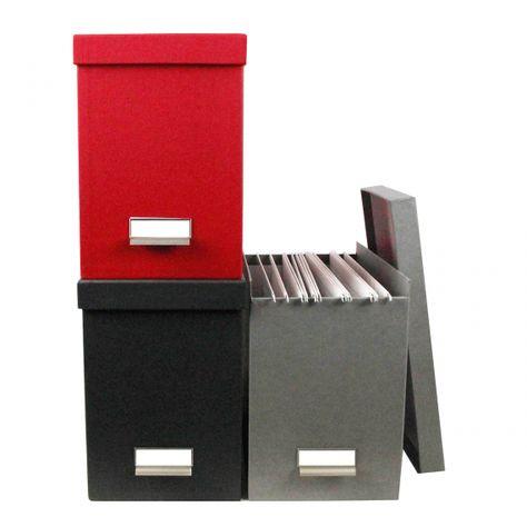 Boite De Classement A Dossiers Suspendus Rouge Boite De Classement Boite Rangement Papier Rangement Dossier