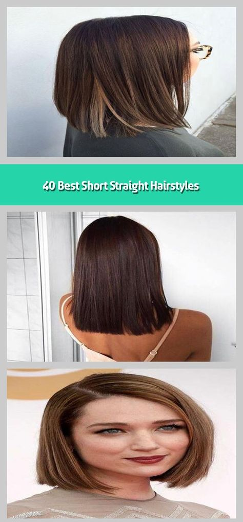 40 Best Short Straight Hairstyles -    In modern fashion and showbiz world, there is no shortage of short straigh hairstyle looks. Even though many people consider this a boring look but most women in the world loves it. A major reason is it is simple and easy to maintain it. If you are one of those women who are more interested in giving a trendy and fashioned look to your hairs, you still have plenty of options in short straight hairs. Working women too opt for this look for its many advant...