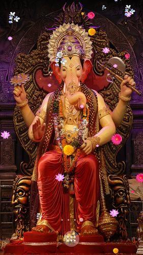 Download Lord Ganesha Hd Live Wallpaper Apk 1 0 For Android Lord Ganesha Hd Lwp Beautiful Falling Flowers Ef Ganesh Photo Shri Ganesh Images Ganesh Ji Images Ganpati wallpaper hd download