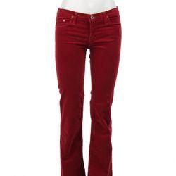A sweatsuit alternative: corduroy pants in a pop of color!