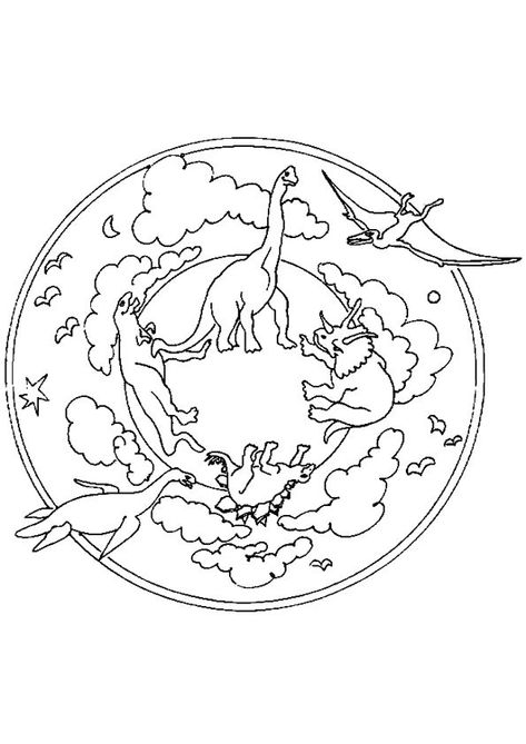 ausmalbilder dinosaurier mandala  aiquruguay