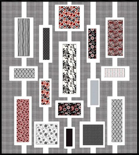 Modern Quilt Made From A Selection Of Fat Quarters J Maybe I Should Do Our Challenge Fabric With This Pattern Modern Quilts Tutorial Modern Design Baby Quilts Modern Quilt Pattern Free