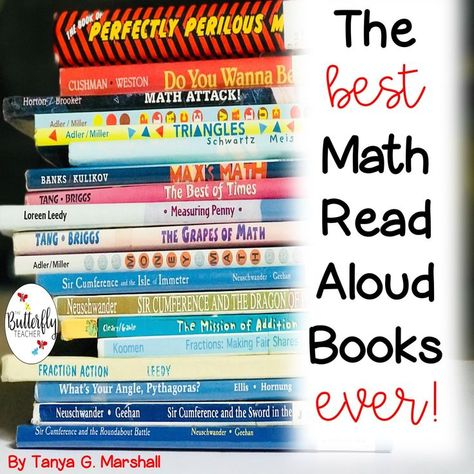 The Best Books for Math Read Alouds   The Butterfly Teacher