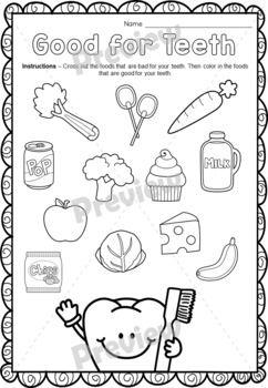 Dental Hygiene Printables For Children Icin 42 Fikir - Download Dental Health Worksheets Kindergarten Background