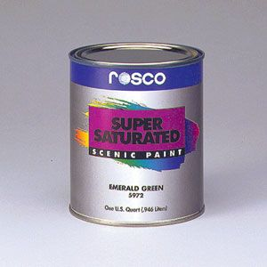 Rosco Supersaturated Scenic Paint Paint Color Chart Clear Acrylic Primer Sealer
