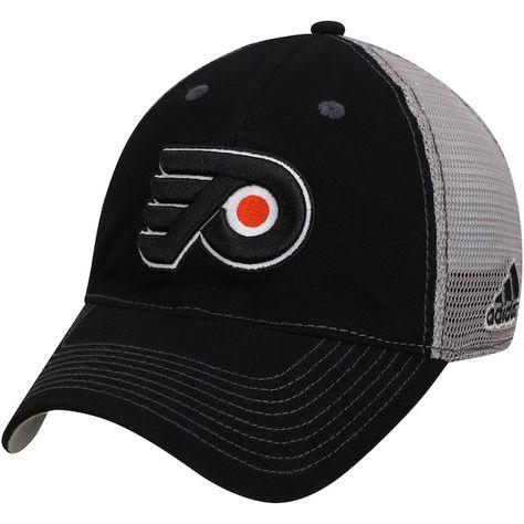 e0f154c5ccc Philadelphia Flyers adidas Slouch Mesh Back Flex Hat Black Gray   PhiladelphiaFlyers
