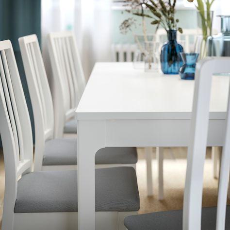 Tavolo 70 X 70 Allungabile Ikea.Ekedalen Extendable Table White 47 1 4 70 7 8x31 1 2 120
