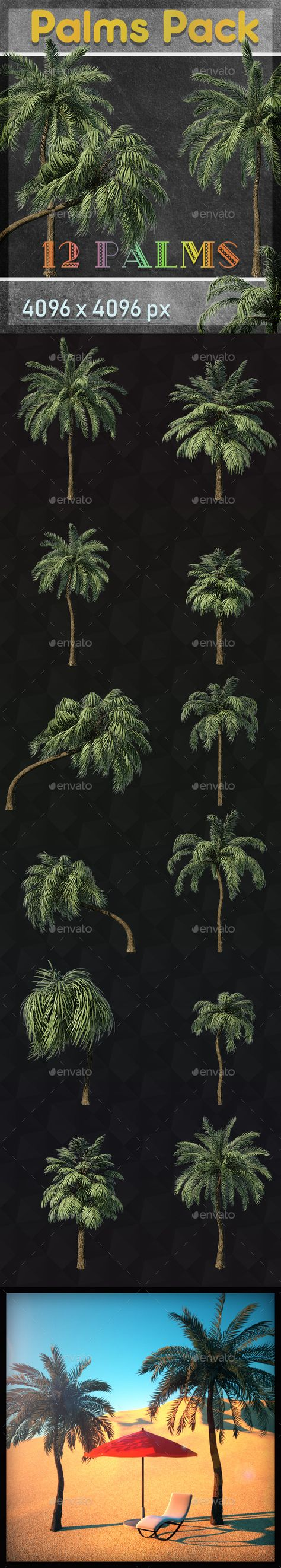 3D Graphics & Renders - Palm Trees Pack