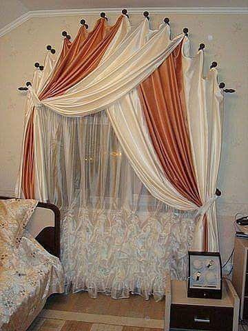 free size 1Pcs Transparent Romantique Jacquard Tulle Rideau /Ét/é Blanc Fen/être Rideau Maison Chambre D/éco Blanc