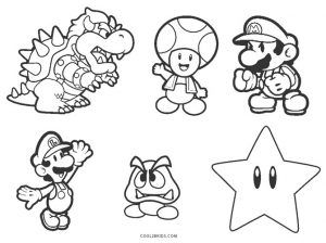 Free Printable Mario Brothers Coloring Pages For Kids Mario Coloring Pages Super Mario Coloring Pages Coloring Pages