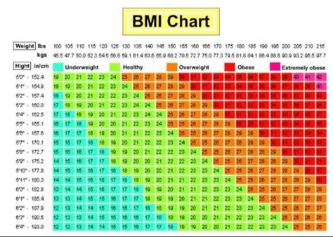 BmiChartManWomenRuler  Bmi LbsKg FtCm    Chart